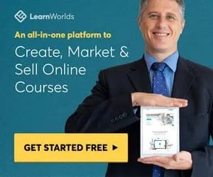 LearnWorlds logo - Learn how to create, market and sell online courses