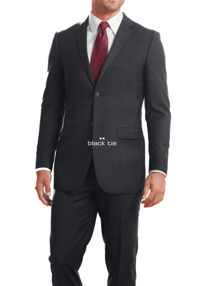 slim fit grey suit- modern