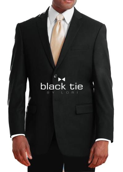 ultra slim fit black suit - black tie by lori