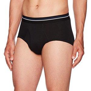 Amazon Essentials Men's 7-Pack Tag-Free Briefs, Black/Heather Grey, X-Large