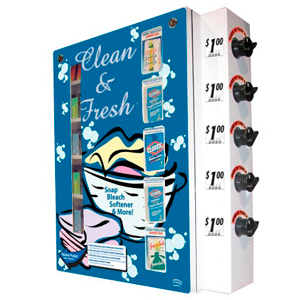 Laundry Detergent Soap-Bleach-Softener Vending Machine