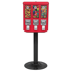 All-Metal Triple Play Vending Machine-Heavy Duty Black Stand