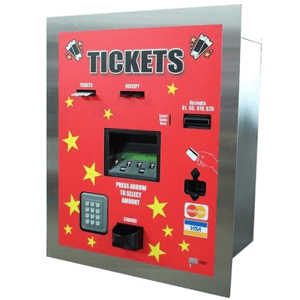 AC107 Rear Load Ticket Kiosk - Accepts Cash-Credit