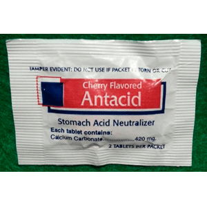Antacid - Cherry Flavor-Stomach Acid Neutralizer-2 Tablets
