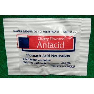 Antacid - Cherry Flavor-Stomach Acid Neutralizer-2 Tablets