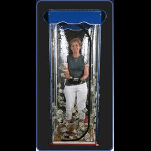 Standard Money Blowing Cash Cube Booth Machine