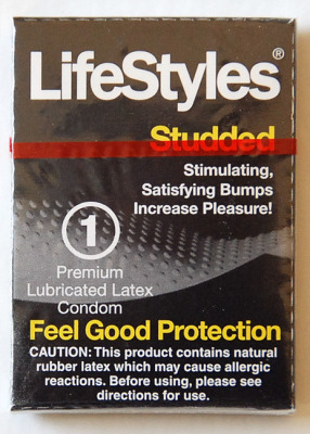 LifeStyles Studded Single Stimulating Latex Condoms