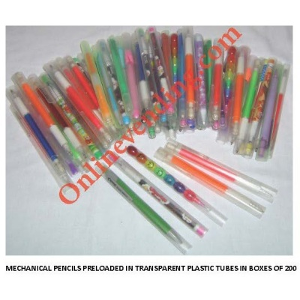Assorted Mechanical Pencils In Plastic Tubes