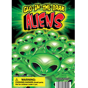 Glow-In-the-Dark Mini Aliens - 1.1 Inch Capsules
