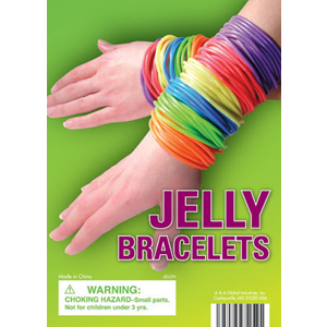 Jelly Bracelets - 1.1 Inch Acorn-Shaped Capsules