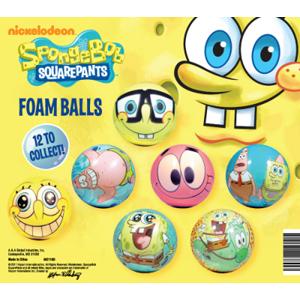SpongeBob SquarePants Foam Balls-2.2 Inch Self Vend