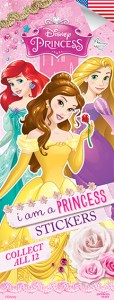 Disney Princess 4 Stickers-Vending Sticker Refill