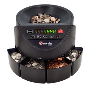 Cassida C100 Coin Sorter-Counter Coin Handling Assistant