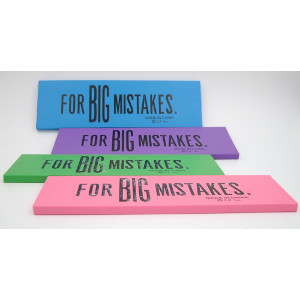 Big Mistake Erasers 4 Colors 24 Count