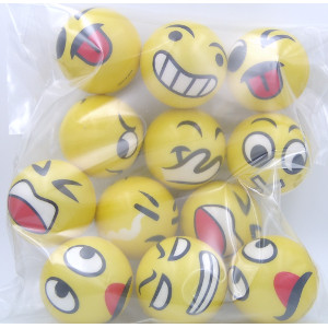 Emoji Balls Variety Twelve Designs 12 Count