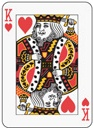 poker heart king