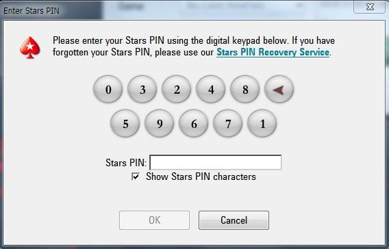 Poker Stars PIN