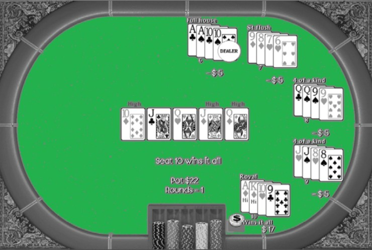 Poker River Card