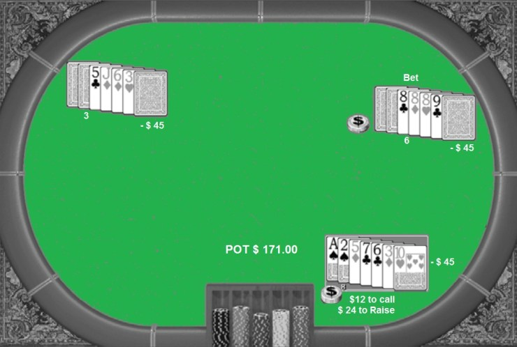 The succession of unsuited low cards tells you this poker player was going for low