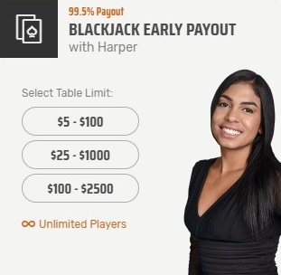 Blackjack Early Payout With Harper