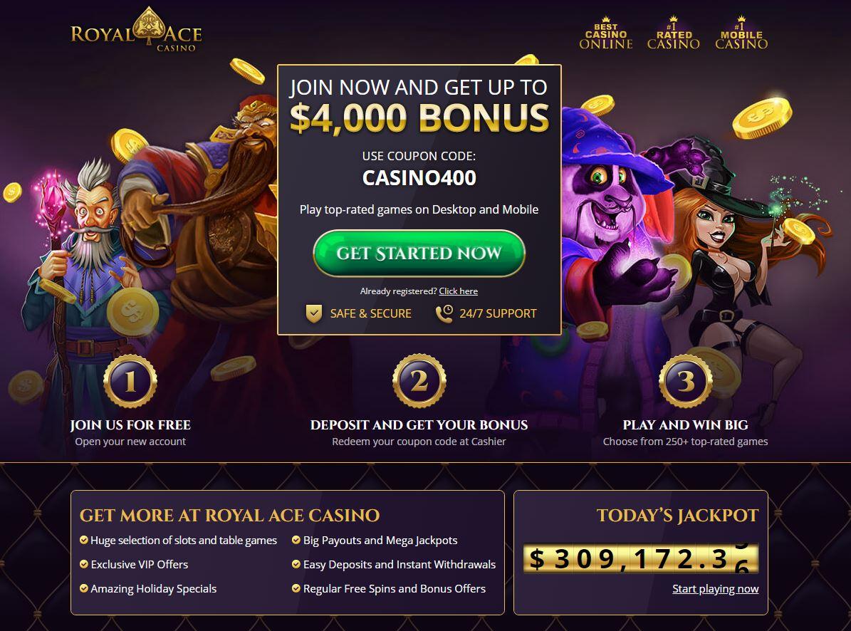RoyalAce Casino Screenshot