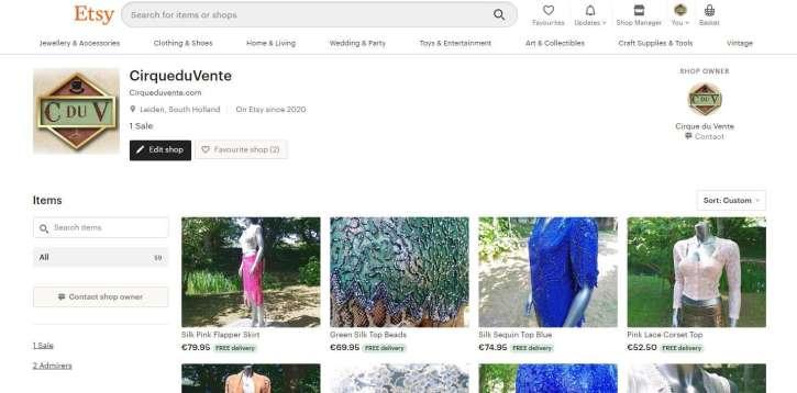 Etsy plugin voor webwinkels