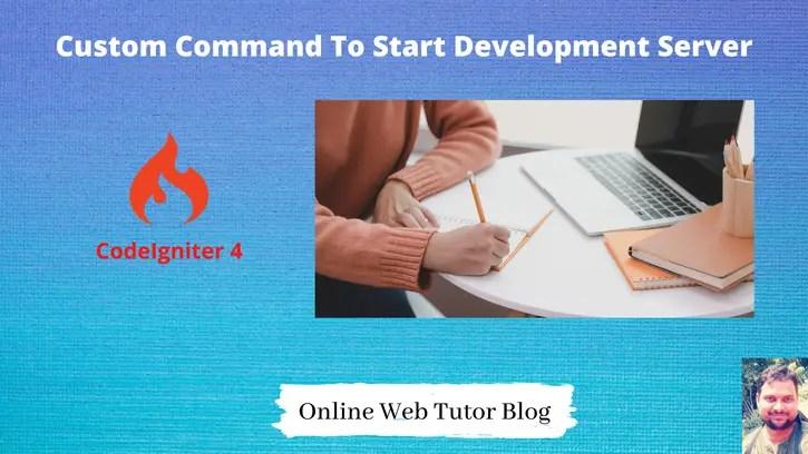 CodeIgniter-4-Command-Change-PHP-Spark-Default-PORT