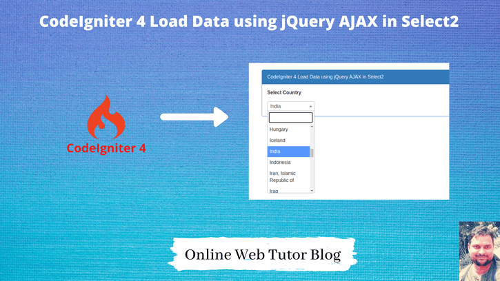 CodeIgniter-4-Load-Data-using-jQuery-AJAX-in-Select2