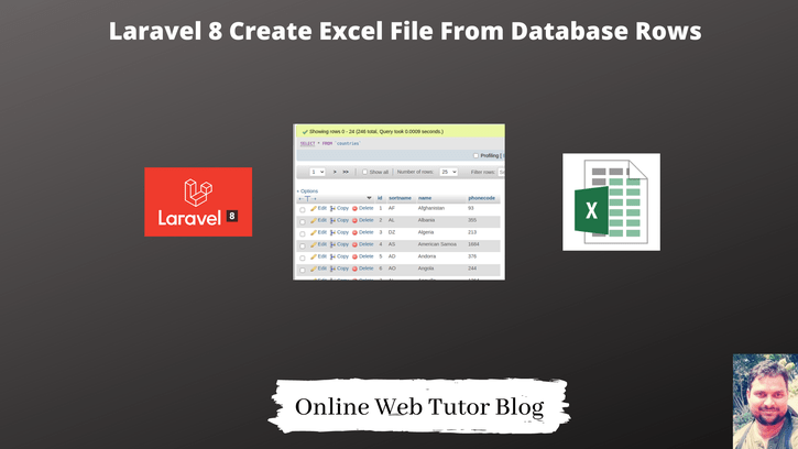 Laravel 8 Create Excel File From Database Rows