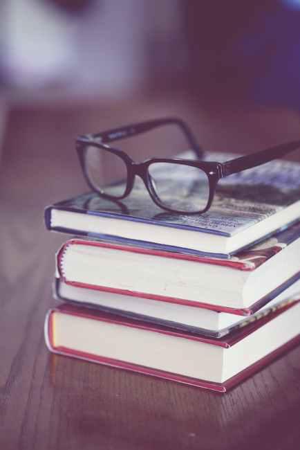 books school stack eyewear