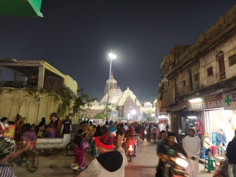 Jagannath temple view from lane