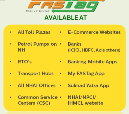 Fastag purchase through several modes, online and offline