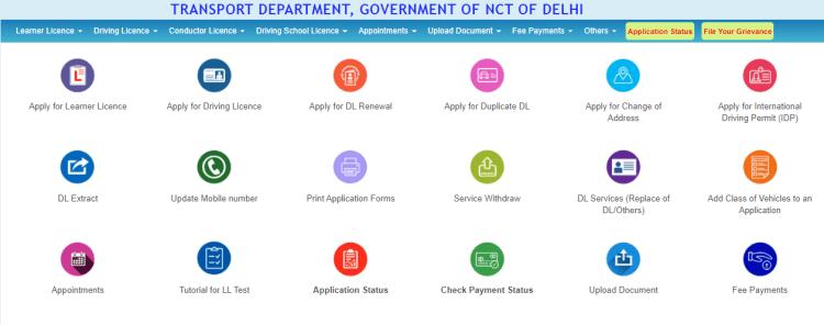 Driving license related services in Delhi RTO