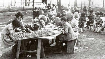 escuela al aire libre. 1916.