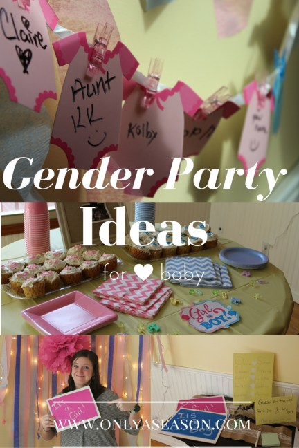 Gender Party Ideas for Party. Party ideas for a Gender Reveal Party.