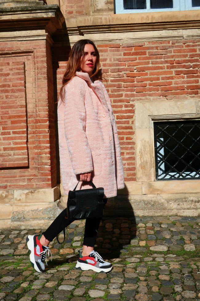 manteau rose onlybrightness #manteaurose #pinkcoat