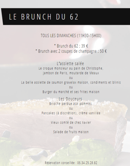 brunch sixty two onlybrightness page 2 e1550219261694 - Restaurant le Sixty Two – Villa du Taur