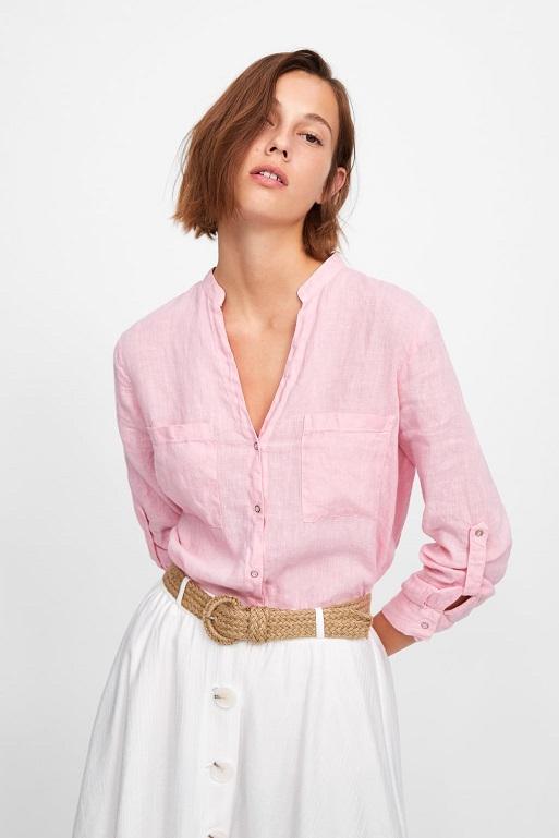 chemise et jupe en lin zara 2019 - CRUSH : Mode Femme Été 2019