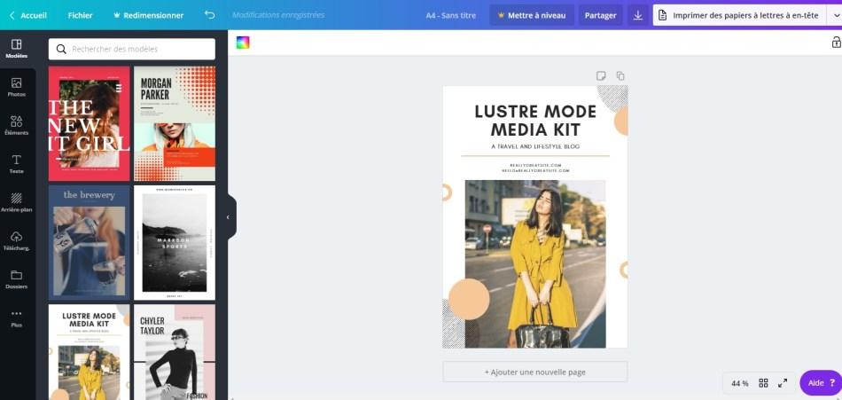 illustration canva media kit - Comment créer le Kit Média parfait ?
