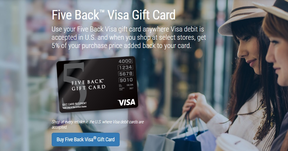 Five Back Visa Gift Card : Frequently Asked Questions - OnlyExplorer