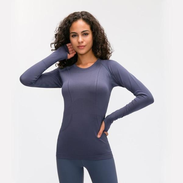 Yoga & Fitness Yoga Seamless Top Super Soft Long Sleeve in 6 Fun Colour - Yoga Seamless Top - Only Fit Gear