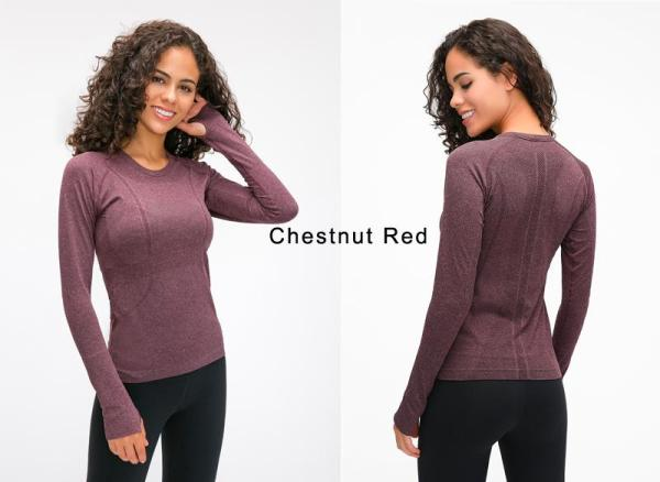 Yoga & Fitness Seamless Super Soft Top with Long Sleeve - Yoga Seamless Top - Only Fit Gear