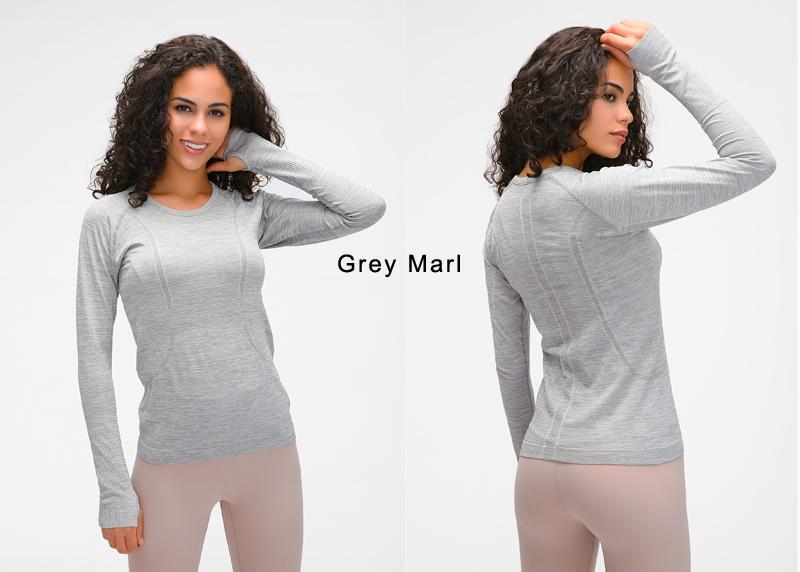 Yoga Seamless Top Super Soft Long Sleeve in 6 Fun Colour - 4