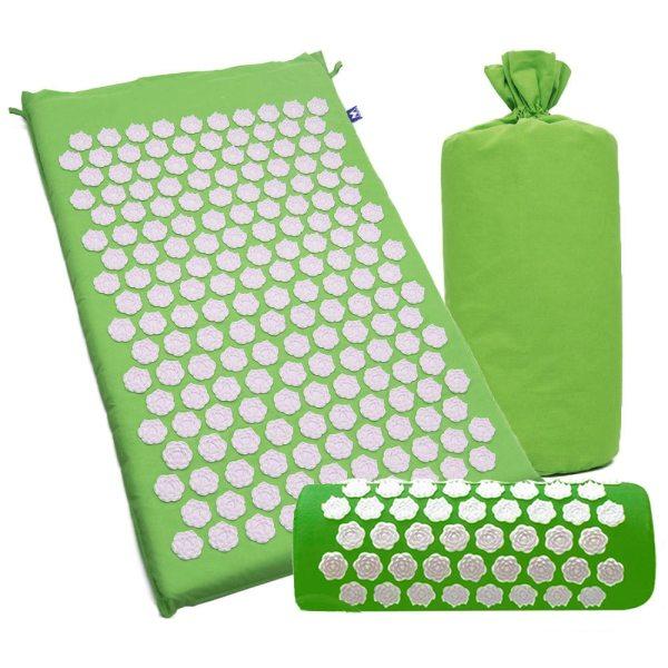 Yoga Acupressure Mat and Pillow Set Massage