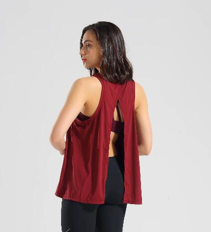 Yoga and Fitness Open Back Sleeveless Tank Tops