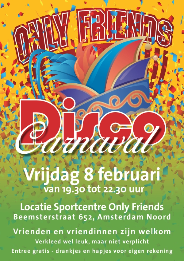 Disco Carnaval bij Only Friends
