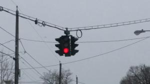 The upside-down traffic light.