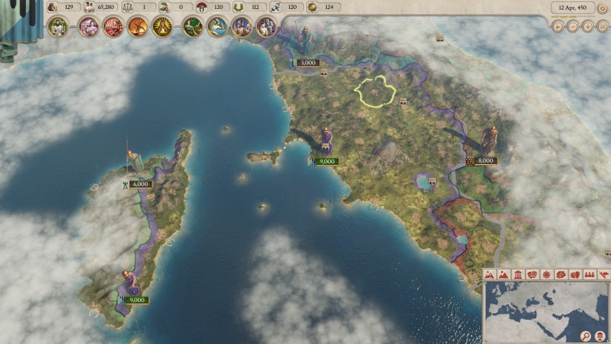 Imperator Rome: el detalle del mapa