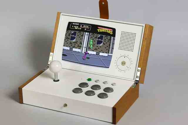 Portable retro gaming console