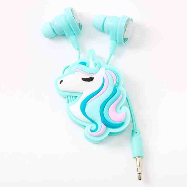 unicorn hearts earbuds